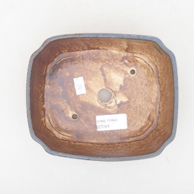 Ceramiczna miska bonsai 16,5 x 14 x 5,5 cm, kolor niebieski - 3