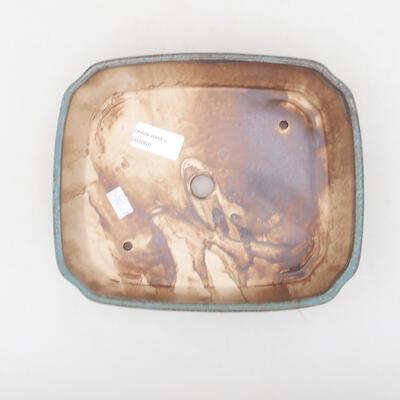 Ceramiczna miska bonsai 21 x 17,5 x 5,5 cm, kolor niebiesko-brązowy - 3