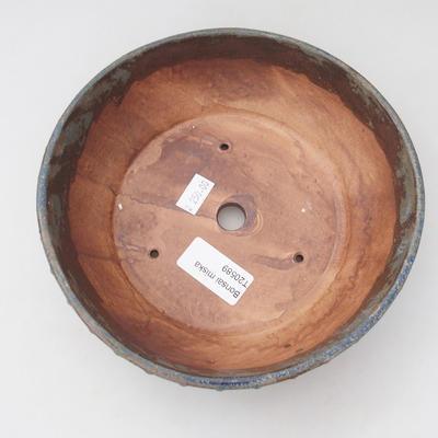 Ceramiczna miska bonsai 17,5 x 17,5 x 5,5 cm, kolor zielono-brązowy - 3