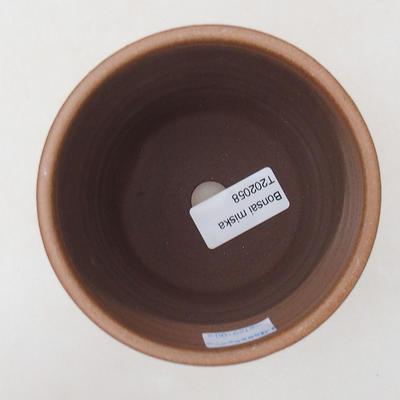Ceramiczna miska bonsai 10 x 10 x 9,5 cm, kolor brązowy - 3