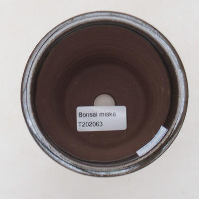 Ceramiczna miska bonsai 9 x 9 x 9,5 cm, kolor zielony - 3