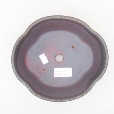 Ceramiczna miska bonsai 18 x 16 x 6 cm, kolor brązowy - 3