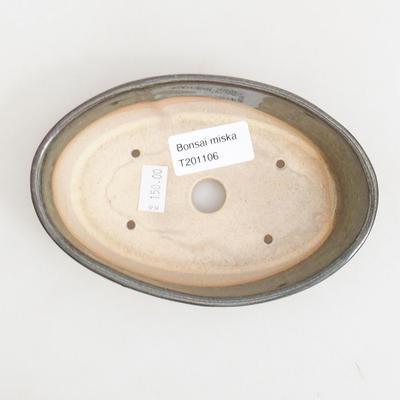 Ceramiczna miska bonsai 14,5 x 9 x 3,5 cm, kolor zielony - 3