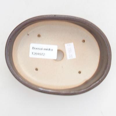 Ceramiczna miska bonsai 13 x 10 x 3,5 cm, kolor metalowy - 3