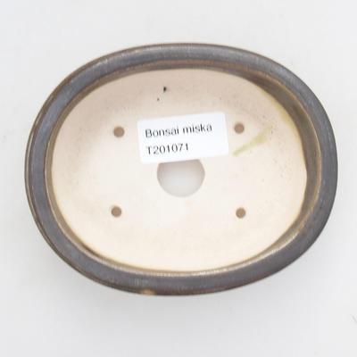 Ceramiczna miska bonsai 11,5 x 9,5 x 3 cm, kolor zielony - 3