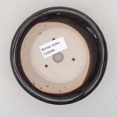 Ceramiczna miska bonsai 12,5 x 12,5 x 4 cm, kolor niebieski - 3