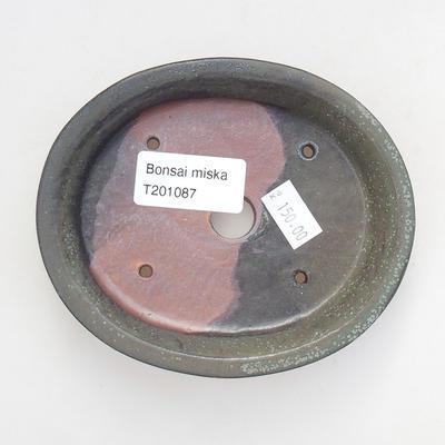 Ceramiczna miska bonsai 12 x 10 x 2,5 cm, kolor szary - 3