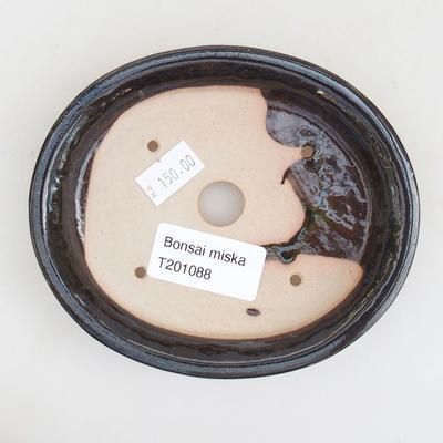Ceramiczna miska bonsai 12 x 10 x 2,5 cm, kolor czarno-niebieski - 3