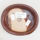 Ceramiczna miska bonsai 12 x 10 x 2,5 cm, kolor brązowy - 3/4