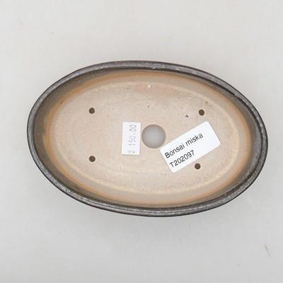 Ceramiczna miska bonsai 14 x 9,5 x 4 cm, kolor zielony - 3