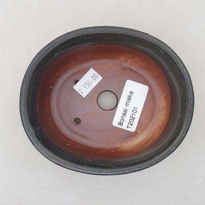Ceramiczna miska bonsai 12 x 10 x 5 cm, kolor szary - 3