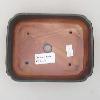 Ceramiczna miska bonsai 15 x 11,5 x 4 cm, kolor szary - 3