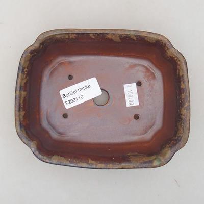 Ceramiczna miska bonsai 15 x 12 x 4 cm, kolor brązowy - 3