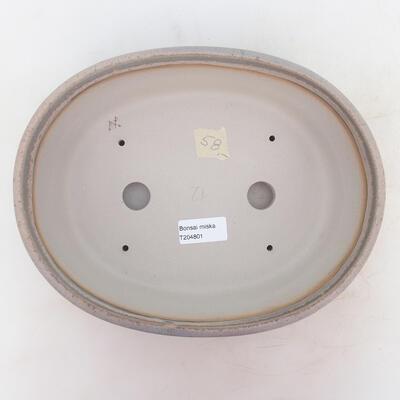Miska Bonsai 26 x 20 x 7,5 cm, kolor szaro-beżowy - 3