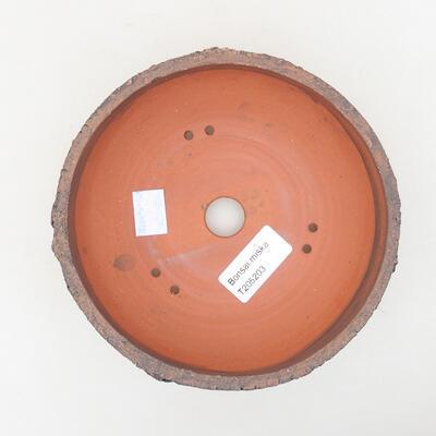 Ceramiczna miska bonsai 15 x 15 x 6 cm, kolor spękany - 3