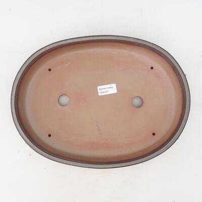 Miska Bonsai 34,5 x 25,5 x 7 cm, kolor brązowo-szary - 3