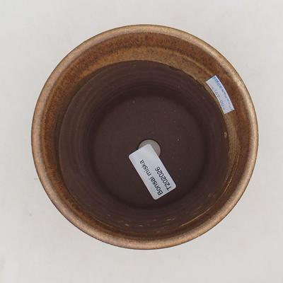 Ceramiczna miska bonsai 12,5 x 12,5 x 12 cm, kolor brązowy - 3