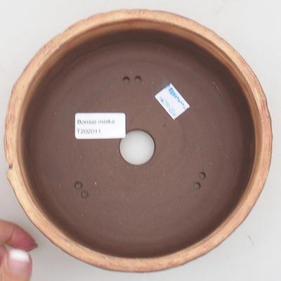 Ceramiczna miska bonsai 17 x 17 x 7 cm, kolor spękany - 3