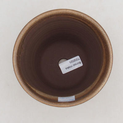 Ceramiczna miska bonsai 13 x 13 x 12,5 cm, kolor brązowy - 3
