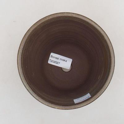 Ceramiczna miska bonsai 12,5 x 12,5 x 11 cm, kolor brązowy - 3