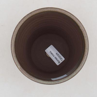 Ceramiczna miska bonsai 10,5 x 10,5 x 13 cm, kolor brązowy - 3