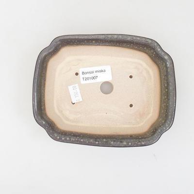 Ceramiczna miska bonsai 15,5 x 12 x 4,5 cm, kolor zielony - 3