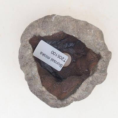 Ceramiczna skorupa 7 x 6 x 6 cm, kolor brązowy - 3