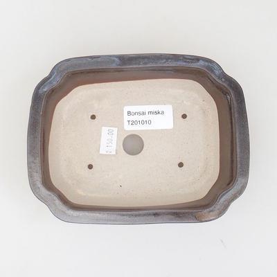 Ceramiczna miska bonsai 15,5 x 12 x 4,5 cm, kolor brązowy - 3