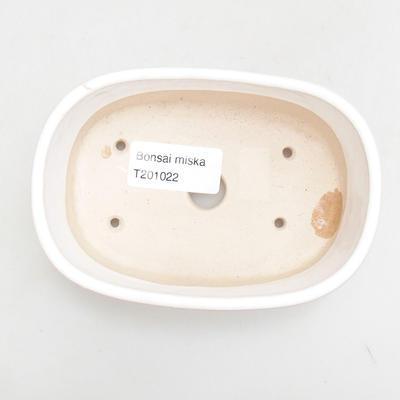 Ceramiczna miska bonsai 12,5 x 8,5 x 3,5 cm, kolor biały - 3