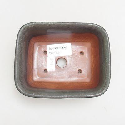 Ceramiczna miska bonsai 13 x 10 x 5,5 cm, kolor szary - 3