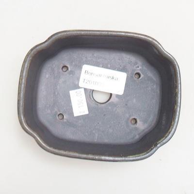 Ceramiczna miska bonsai 12 x 9,5 x 4 cm, kolor metalowy - 3