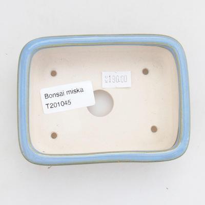 Ceramiczna miska bonsai 11 x 8 x 3 cm, kolor niebieski - 3