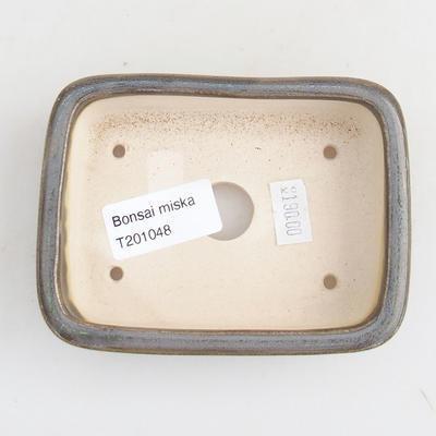 Ceramiczna miska bonsai 11 x 8 x 3 cm, kolor zielony - 3