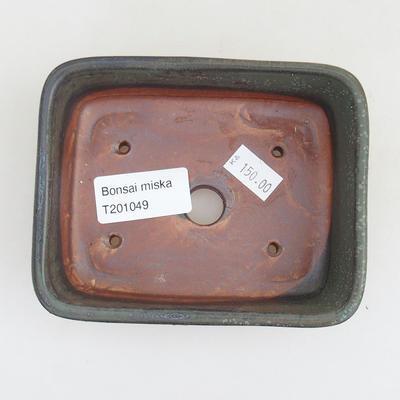 Ceramiczna miska bonsai 12 x 9,5 x 3,5 cm, kolor szary - 3