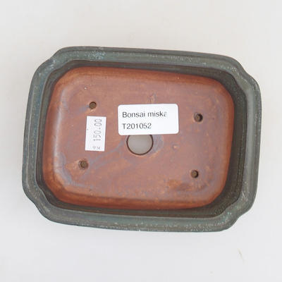 Ceramiczna miska bonsai 13 x 10 x 3,5 cm, kolor szary - 3