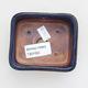 Ceramiczna miska bonsai 9 x 7,5 x 3 cm, kolor niebieski - 3/4
