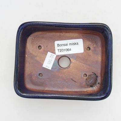 Ceramiczna miska bonsai 12 x 9 x 3,5 cm, kolor niebieski - 3