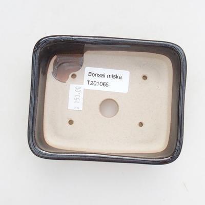 Ceramiczna miska bonsai 12 x 9 x 3,5 cm, kolor zielony - 3