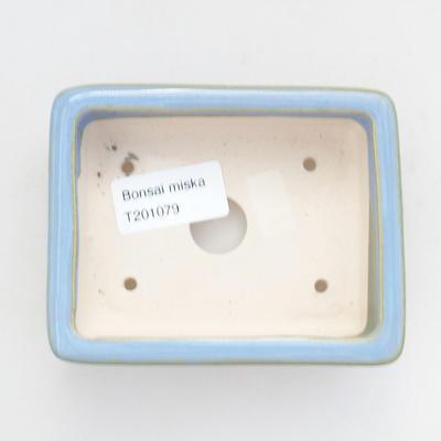 Ceramiczna miska bonsai 10,5 x 8,5 x 3 cm, kolor niebieski - 3