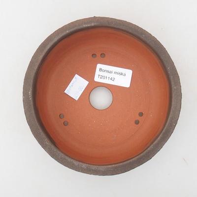 Ceramiczna miska bonsai 15 x 15 x 6 cm, kolor popękany - 3