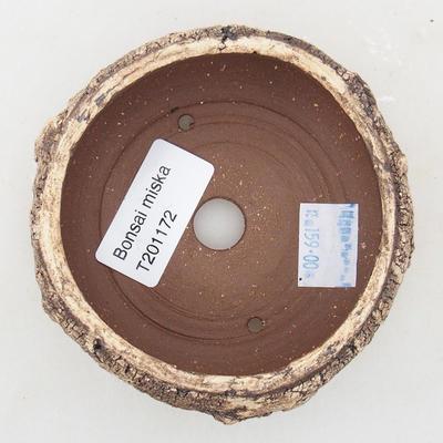 Ceramiczna miska bonsai 8,5 x 8,5 x 4,5 cm, kolor popękany - 3