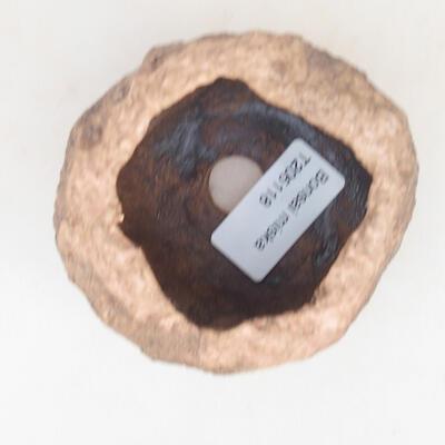Ceramiczna skorupa 6 x 6 x 6 cm, kolor brązowo-różowy - 3
