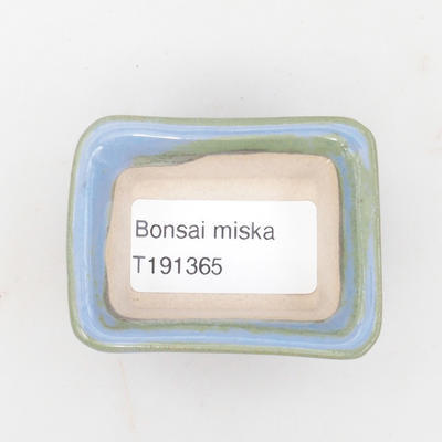 Mini miska bonsai 6 x 4,5 x 2,5 cm, kolor niebieski - 3