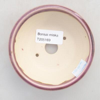 Ceramiczna miska bonsai 10 x 10 x 3,5 cm, kolor fioletowy - 3
