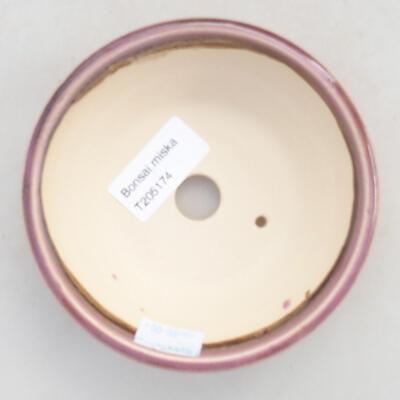Ceramiczna miska bonsai 11,5 x 11,5 x 4 cm, kolor fioletowy - 3
