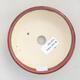 Ceramiczna miska bonsai 12 x 12 x 5 cm, kolor bordowy - 3/3