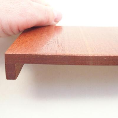 Drewniany stół pod bonsai brązowy 10 x 8 x 1,5 cm - 3