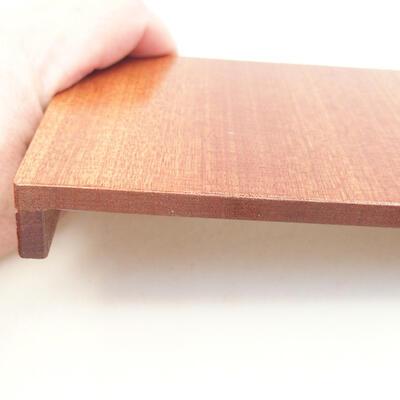 Drewniany stół pod bonsai brązowy 12 x 9 x 1,5 cm - 3