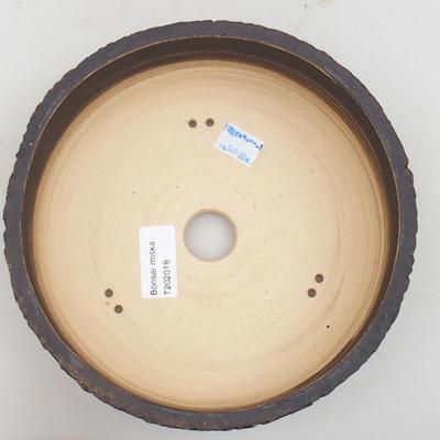 Ceramiczna miska bonsai 19 x 19 x 7,5 cm, kolor spękany - 3