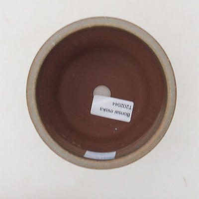 Ceramiczna miska bonsai 10,5 x 10,5 x 9 cm, kolor brązowo-zielony - 3